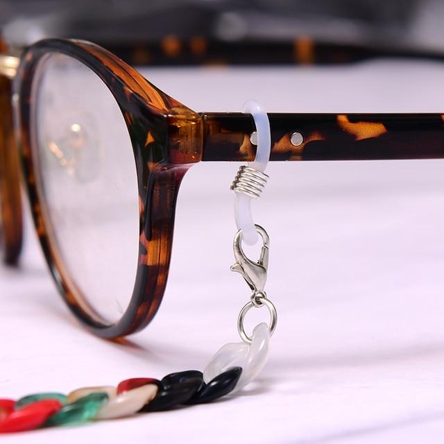 MOON GIRL 72cm Acrylic Sunglasses Chain Women Anti Slip Reading Eyewears Ribbon Clip Mask Holder Neck Strap Lanyard Dropshipping 2