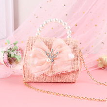 Kids Purses and Handbags Mini Crossbody 2021 Cute Girls Coin Pouch Messenger Bag Baby Girl Party Pearl Purse Hand Bags Gift