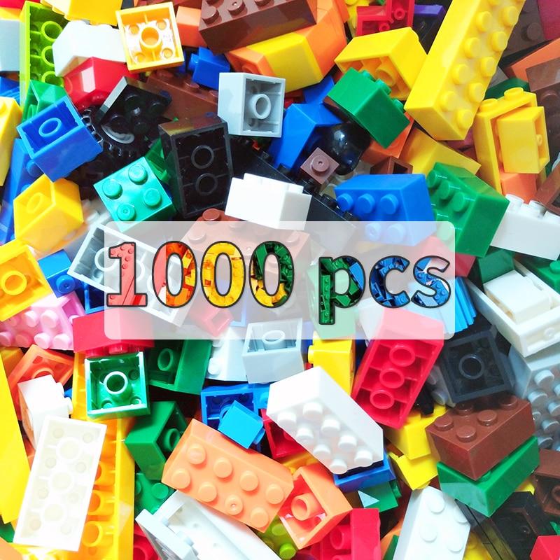 1000 pièces blocs de Construction jouet bricolage ville briques créatives en vrac Construction concepteur éducatif enfants jouets compatibles toutes les marques