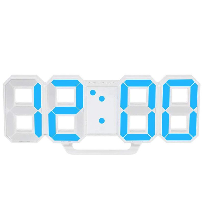 Multifunctional LED Clock Large LED Digital Wall Clock 12H / 24H Time Display With Alarm And Snooze Function Luminance Adjustabl
