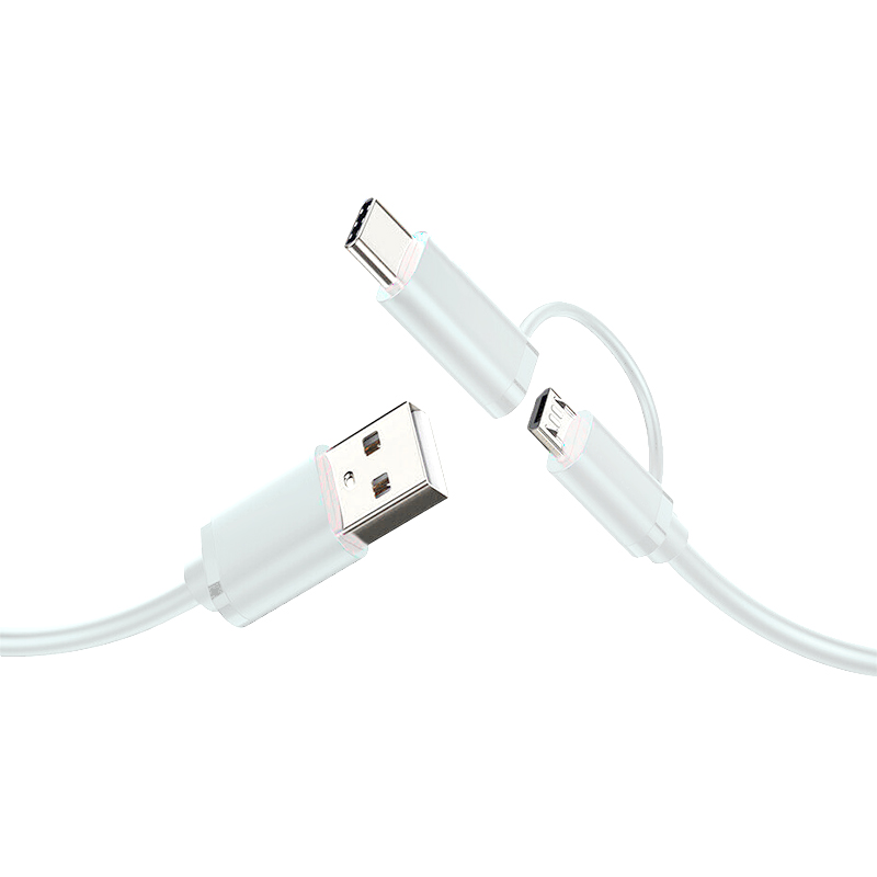 For Andiroid Mobile Phone Cables Useful Two-in-one Fast Charging Android Data Cable Type-c Usb Electronic Accessory