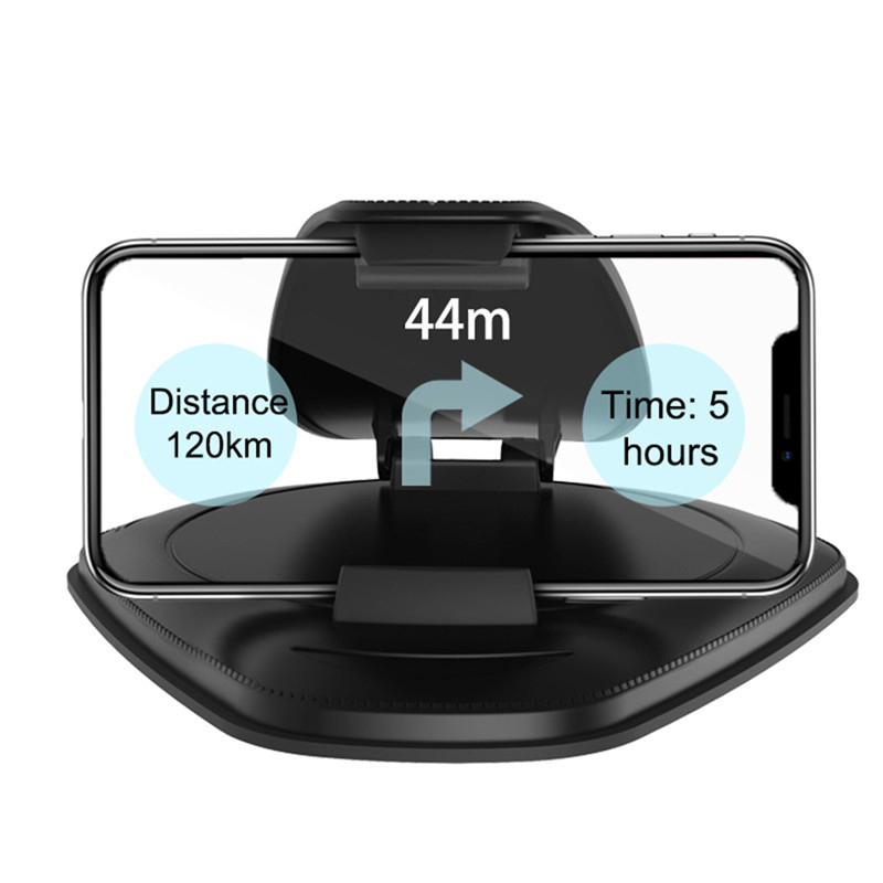 Cellphone Car Holder 2019 PU Leather Pattern Navigation GPS Support Stand Hud Universal Dashboard For IPhone X Car Phone Holder