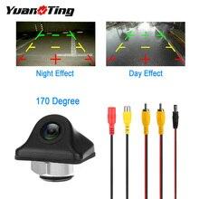 YuanTing 170 градусов CCD Автомобильная передняя сторона заднего вида резервная камера авто парковочная помощь обратный/вперед водонепроницаемый HD видео