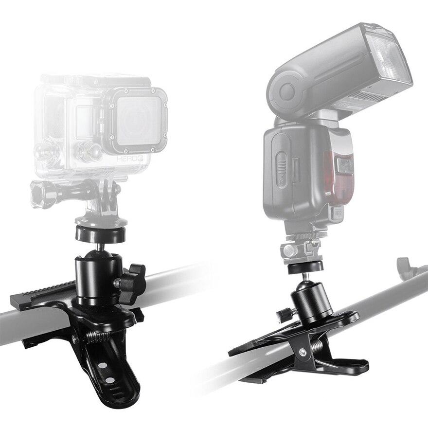 Acouto Aluminum Alloy Ball Head Multi-Function Ballhead Adapter for Camera Tripod Flash Light Holder
