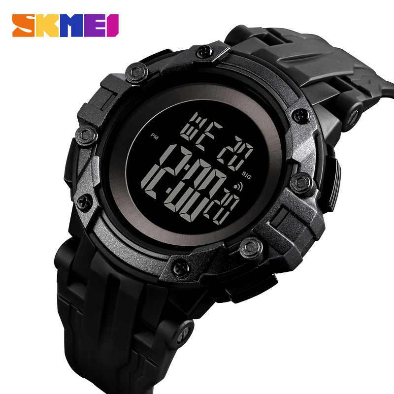 SKMEI חיצוני גברים ספורט שעונים LED אלקטרוני דיגיטלי שעוני יד שעון צבאי עמיד למים שעון זכר Relogio masculino