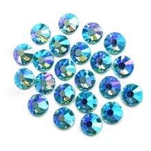 Aqua Marine AB – strass cristal à paillettes, dos plat, pierre de verre pour bricolage, scintillant, robe de mariage en diamant, paillettes, art
