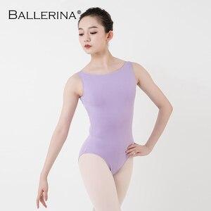 Image 3 - Leotardo de Ballet para mujer, traje de baile de práctica, para Adulto, aerista, gimnasia, sin mangas, leotardos rojos, bailarina, 5684