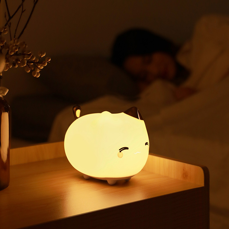 Baseus Rechargeable LED Night Light Lamp Touch Sensor Cute Animal Silicone LED Light For Children Baby Kids Gifts Bedroom Light