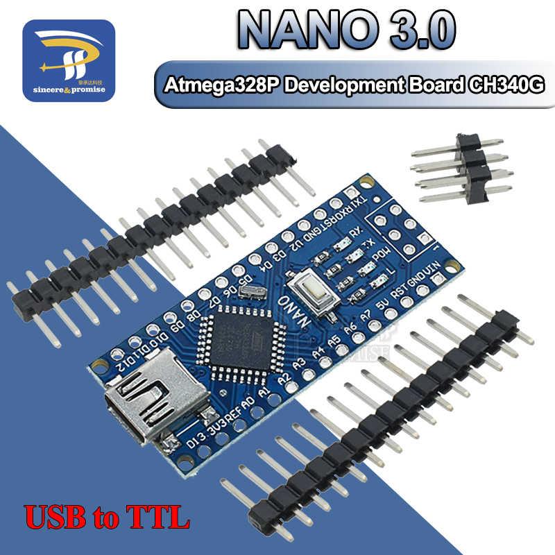 Atmega328 MINI USB Nano V3.0 ATmega328P CH340G 5V 16M mikro denetleyici kurulu Arduino için 328P NANO 3.0 CH340