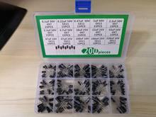 1 caja de 15Value-200pcs condensador electrolítico de aluminio 10V/16V/25V/50V 220uf 100uf 47uf 33 22 10 4,7, 3,3, 2,2, 1 0,47, 0,22 de 0,1 uf