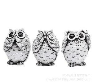Image 5 - Estatuillas de búho decoración de animales ornamentos accesorios de decoración del hogar Oficina arte regalos de boda decoración cerámica
