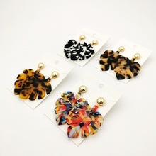 Bohemian tree leaves long pendant Acrylic earrings Big Acetate tortoise shell Statement Women fashion Plant Jewelry