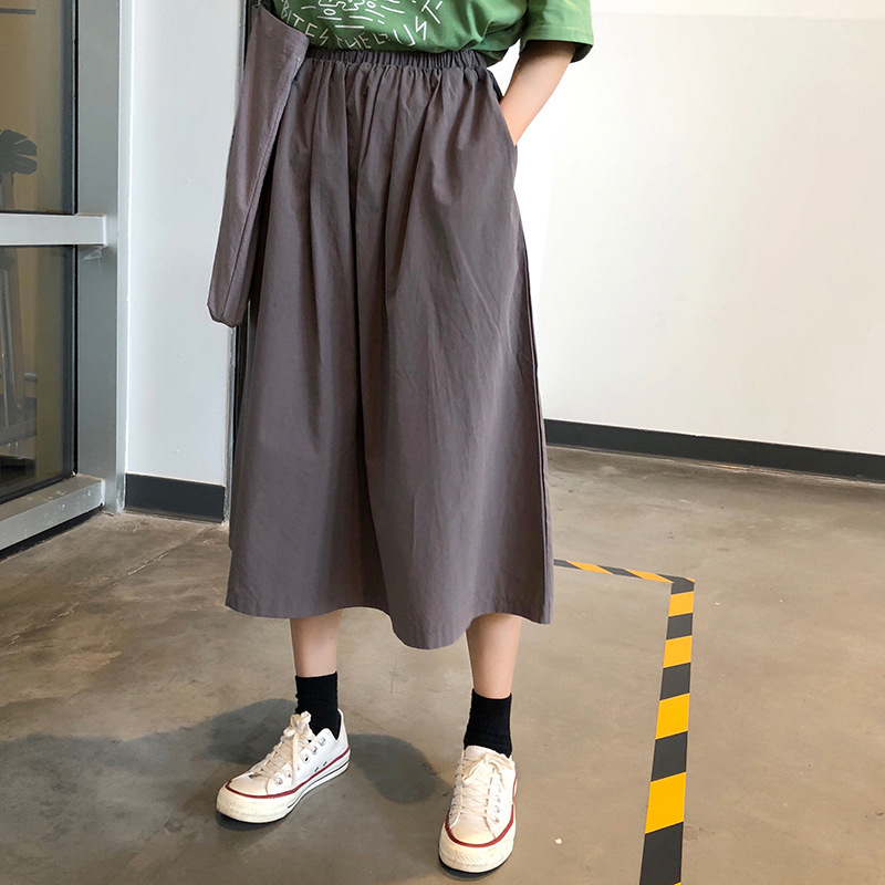 Fox Mrs. Autumn High-waisted A- Line Skirt Versatile Slimming Students Medium-length Dress Women's Popular Skirt Fashion