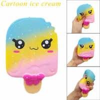 Llavero Kawaii de helado blando de recuperación lenta para niños, juguete de descompresión con fragancia colgante para teléfono móvil, regalo de vacaciones divertido