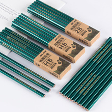 2B Pencil Hb Log Children Student Writing Drawing Sketch Examination Dedicated 10 Loaded Flash Green Pencil german staedtler 255 advanced automatic pencil refills 2b hb 0 7 0 5mm