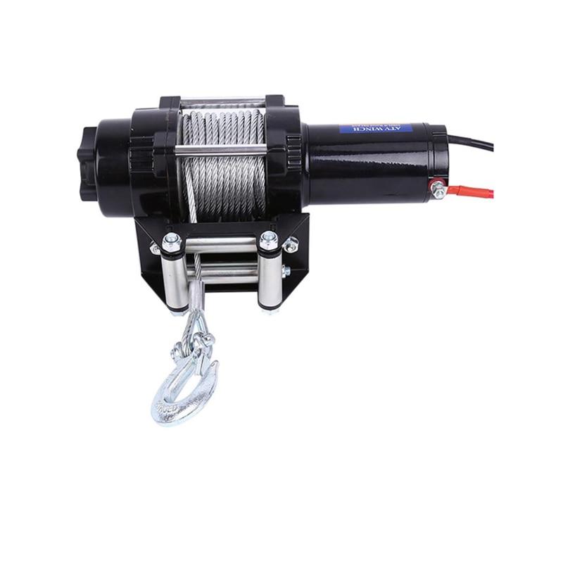 Electric 4000lb WINCH 12V Steel Cable Winch Quad Bike ATV Boat Winch