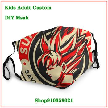 New Trendy mascara reutilizable con filtro Dragon Ball Super Saiyan Saving World Since 1984 washable mask pm2.5