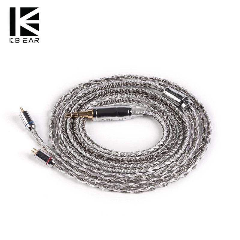 16-жильный посеребренный кабель KBEAR с разъемом 2PIN/QDC/MMCX/TFZ 2,5/3,5/4,4 Для ZSN ZSNPRO C12 C10 BLON BL-03 V80 V90