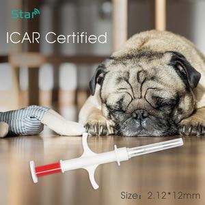Image 2 - 1.4x8/2.12x12/1.25x7mm size FDX B ICAR number ISO11784/5 RFID implant chip syringe Animal microchip syringe for pet dog cat fish