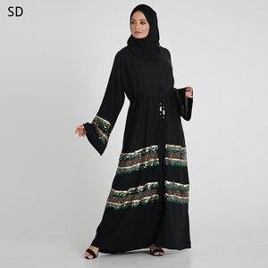 Fashion Abaya Dress Kaftan Dubai Caftan Marocain Islamic Clothing Islamic Ramadan Robe Musulman Abayas