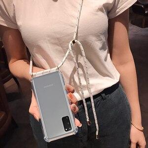 Image 1 - עבור Samsung Galaxy הערה 20 במיוחד S10 S9 S20 בתוספת A51 4G A71 5G Crossbody כיסוי עם שרוך שרשרת כתף צוואר רצועת מקרה