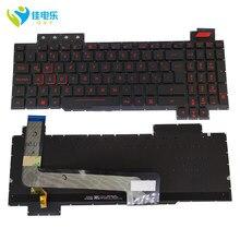 OVY LA arkadan aydınlatmalı klavyeler için FX503 FX503V FX503VD FX503VM FX63 Latin SP siyah yedek klavye kırmızı tuşları en iyi satmak