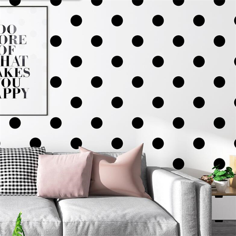 New Wallpaper Black White Wave Dot Dot Square Lattice Pattern Nordic Ins Style Modern Minimalist Geometric Background Wall Paper