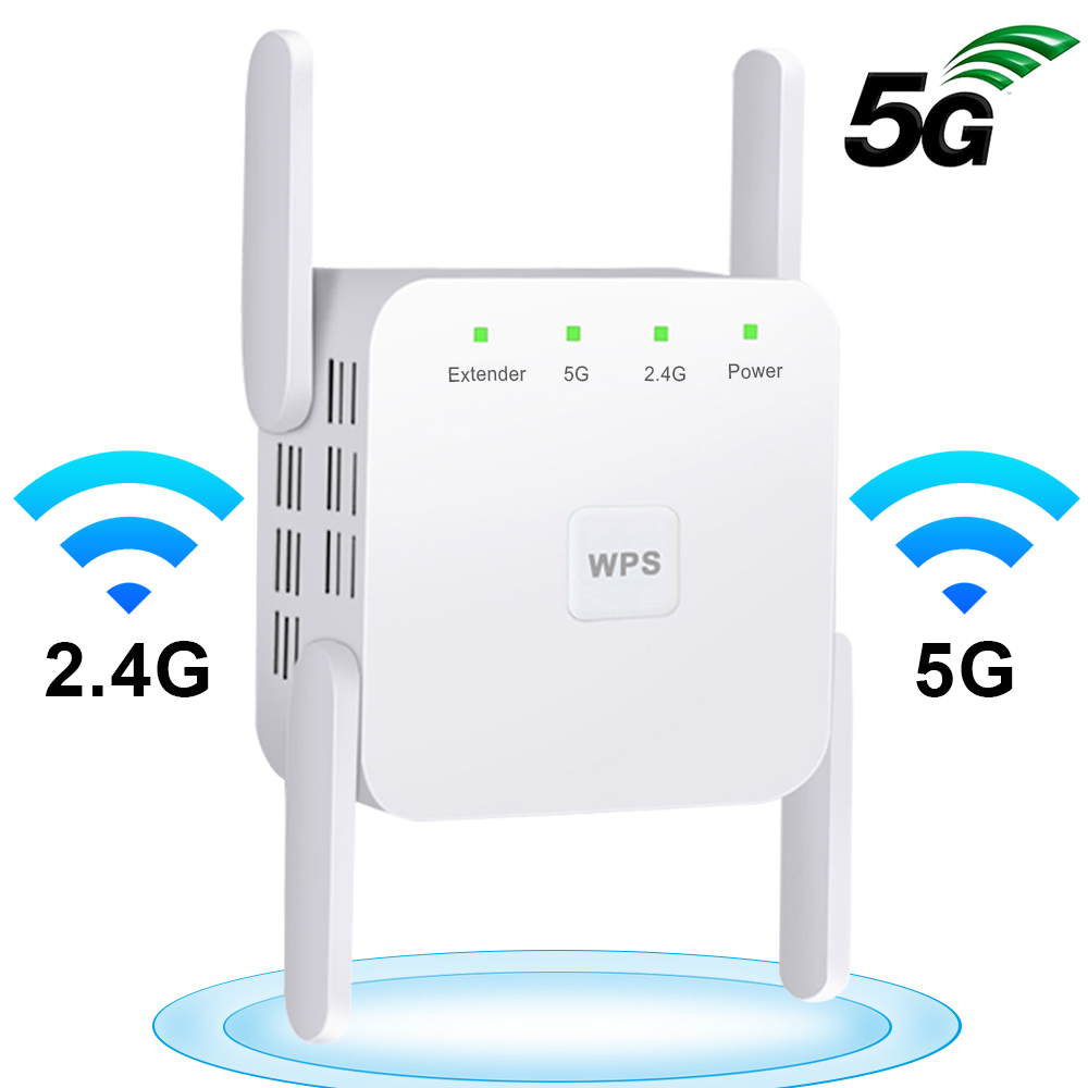 5G Wifi Repeater 5Ghz WiFi Extender 5 Ghz WiFi Router Amplifier Wi Fi Booster 2 4G 5G Wi-Fi Repeater Long Range Signal Repiter