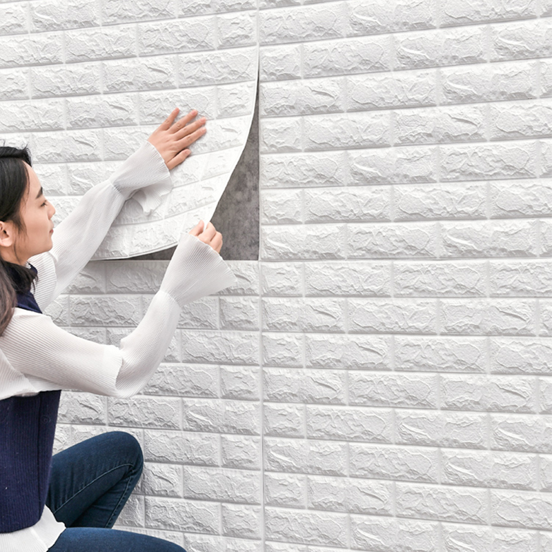 Papel tapiz 3D diseño de ladrillo para FONDO DE TV sala de estar pared del dormitorio decoración DIY autoadhesivo impermeable PE espuma pegatinas de pared