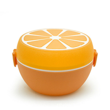 Portable And Cute Orange Fruit Food Container Bento Lunch Boxs Kids Snack Microwave Lunchbox