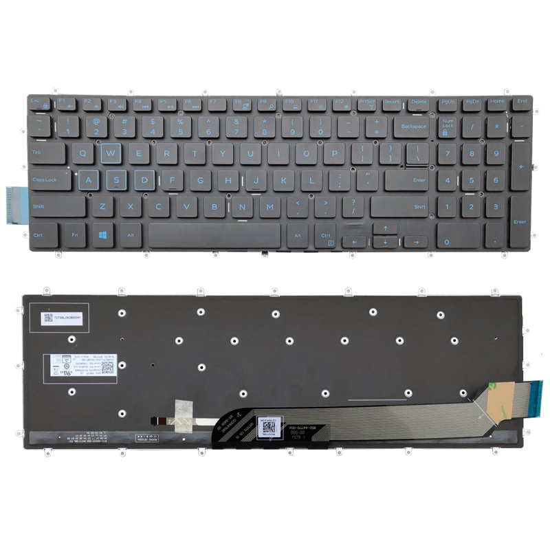 US English Backlit Laptop Keyboard Replacement for <font><b>Dell</b></font> G3 15 <font><b>3590</b></font> G3 3579 G3 3779 G5 15 5590 G7 15 7588 17 7790 G7 15 7590 image