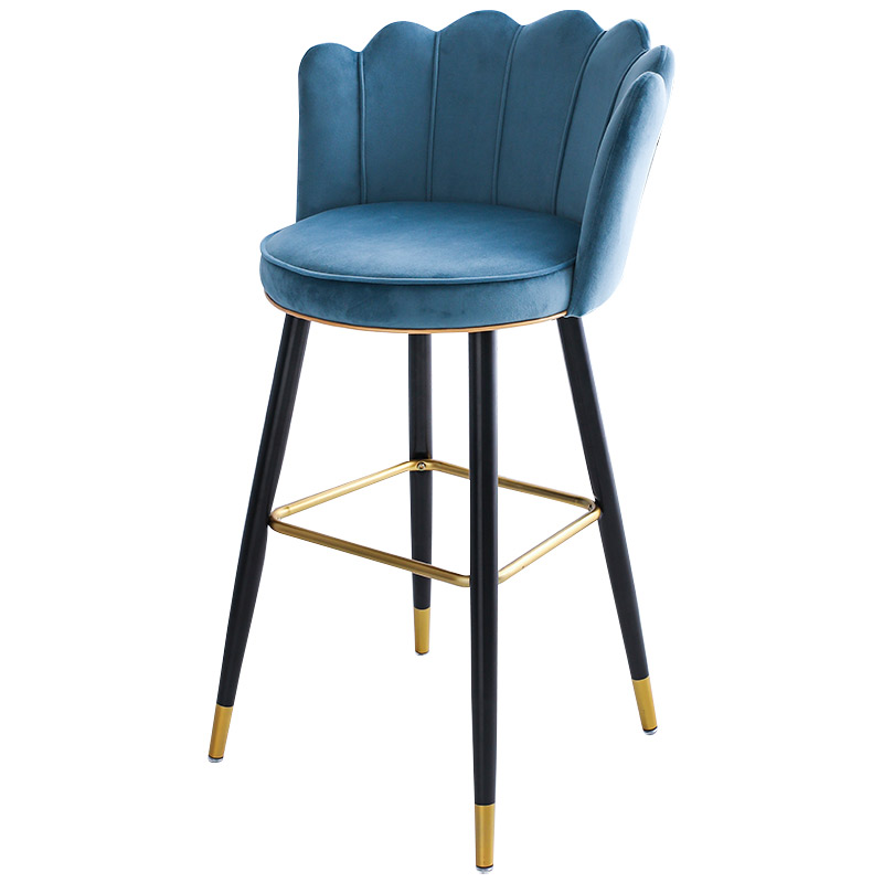 Bar Stool Light Luxury Nordic Simple Modern Fashion High Chair Stool Front Desk Island Home Net Red Back Bar Chair