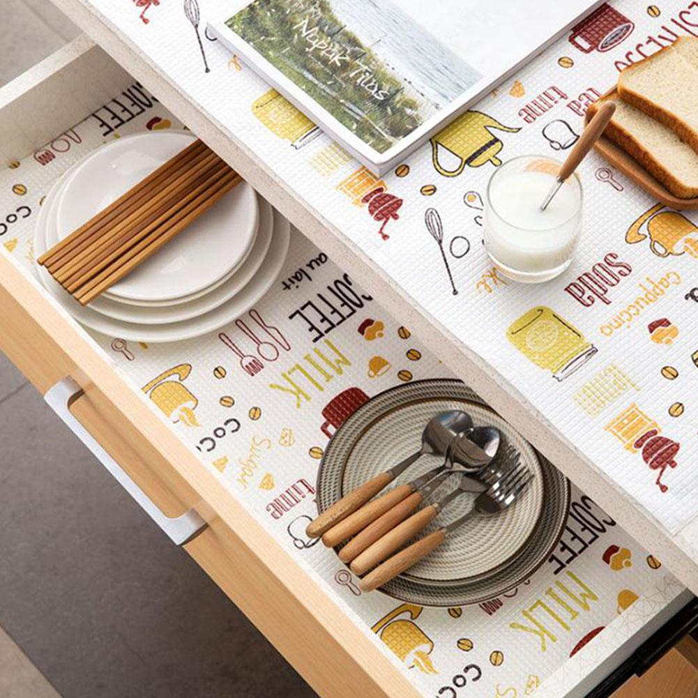 Kitchen Table Mat Drawers Cabinet Shelf Liners Non Slip Cupboard Placemat Home Wardrobe Pad Shoes Cabinet Mat