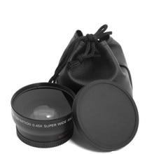 0,45x49 мм 52 мм 55 мм широкоугольный макрообъектив широкоугольный объектив камеры для Canon EOS Nikon для sony Аксессуары для объективов