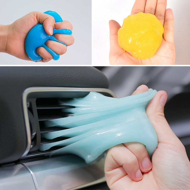 Car Cleaning Glue Cleaner Gel Keyboard Cleaning Gel Super Clean Slimy Gelatin Clean Auto Dashboard Tools Car Detailing Products