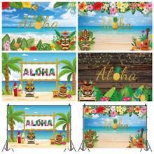 "Laeacco летняя надпись ""Алоха Гавайи"" тропический"