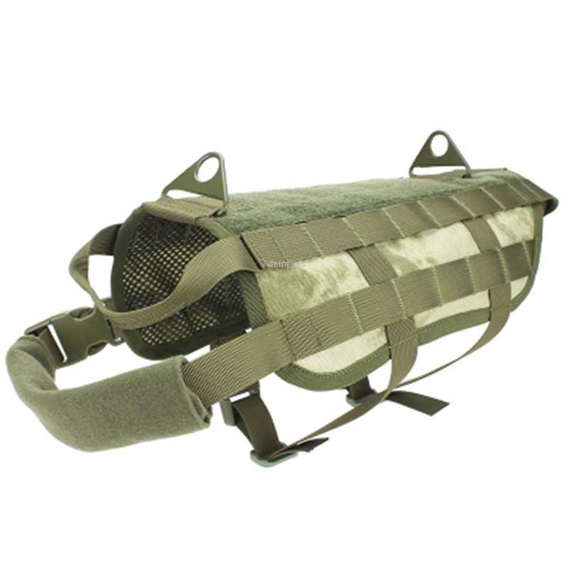 Camouflage tactique chien gilet militaire 1000D Nylon Molle chien formation gilets chasse Pet vêtements harnais S-XL