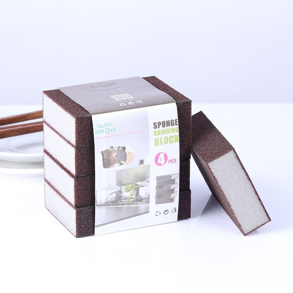 1/4 pcs 스폰지 매직 지우개 제거 녹 제거 면화 주방 가제 액세서리 Descaling 깨끗한 문지름 주방 도구