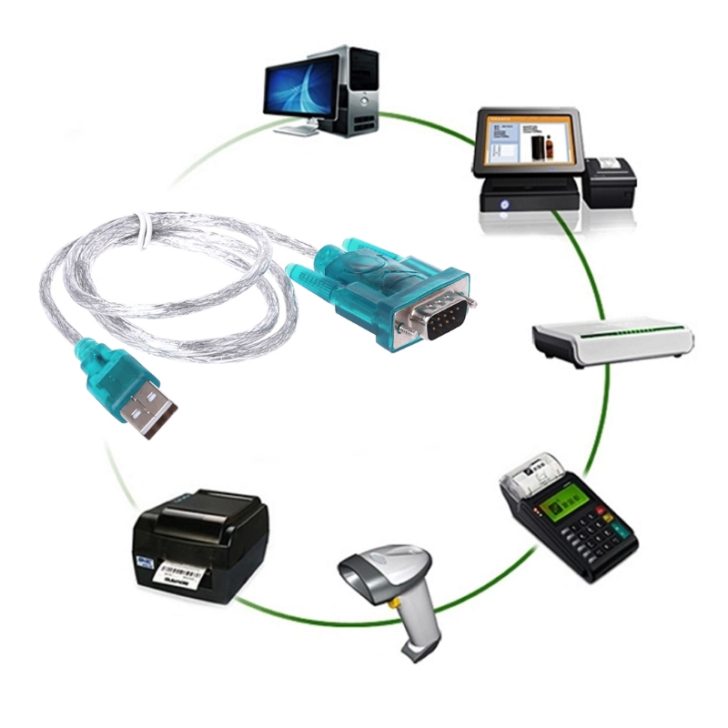 Convertor Adapter USB To RS232 Serial Port 9 Pin DB9 Cable Serial COM Port