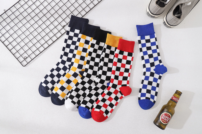 Nuevos regalos para hombres Hip Hop divertido Harajuku calcetines de algodón de invierno de moda de la calle blanco para hombre regalo tablero de calcetines Casuales