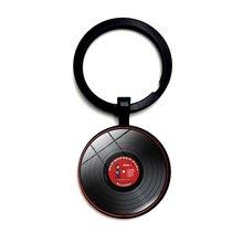 Ретро диск проигрыватель музыкальных дисков dj кольцо для ключей