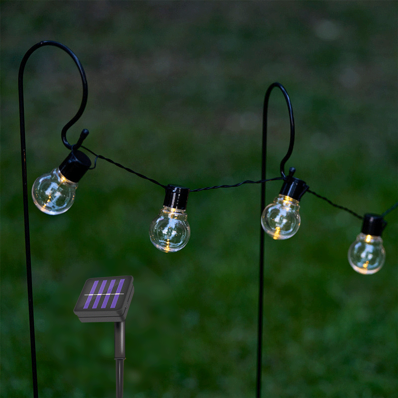 10/20 LED Solar Light String Fairy Holiday Wedding Party Decoration Transparent Bulb Light Outdoor Waterproof Solar Light String