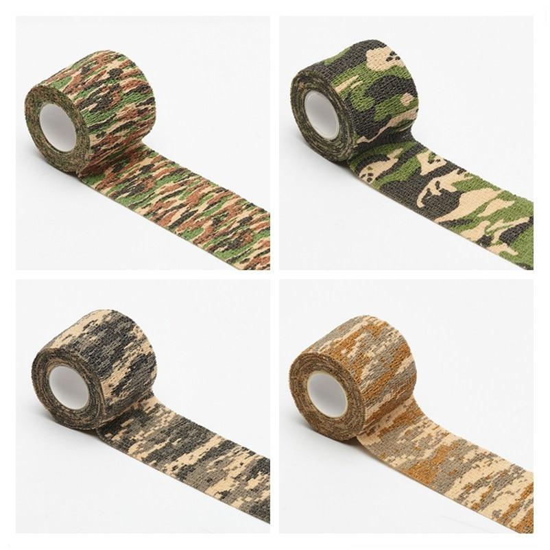 5 Cm X 4.5 M Tentara Kamuflase Luar Ruangan Berburu Shooting Buta Bungkus Kamuflase Stealth Tape Tahan Air Wrap Tahan Lama Panas title=