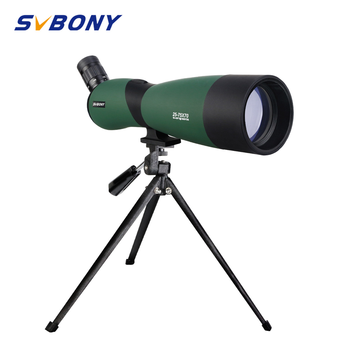 SVBONY SV403 Zoom 20-60X60/25-75x70mm Spotting Scope Multi-Coated Optics Telescópio Monocular para observação de aves w/Tripé de Mesa