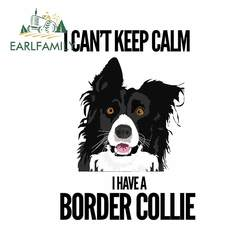 EARLFAMILY 13cm For Border Collie Car Sticker Car Accessories Decal Auto Air Conditioner Sticker Suitable for GTR EVO SX