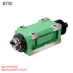 Ch03 1.5kw unidade de cabeça potência cnc máquina ferramenta eixo para fresadora max. rpm 6000 rpm/2500 rpm atarraxamento mandril bt30 mt3 er32