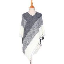 new autumn/winter 2019 European and American style tassel fashion warm scarf shawl