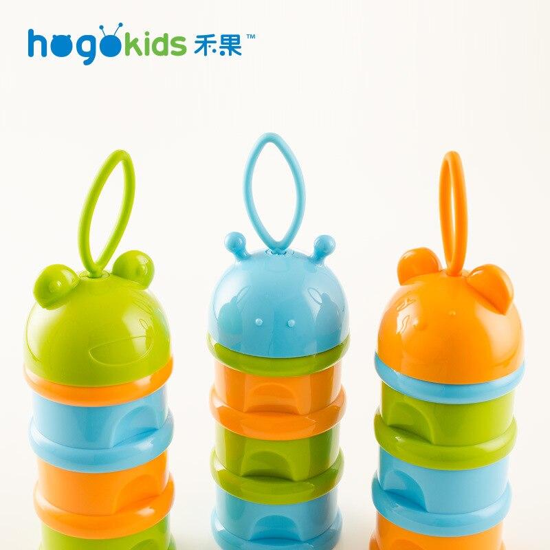 Hogokids Creative Maternal And Child Supplies Three-layer Milk Powder Boxes Portable PP Material Infant Milk Box Cartoon Series