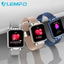 Женские Смарт часы LEMFO с функцией измерения пульса и артериального давления
