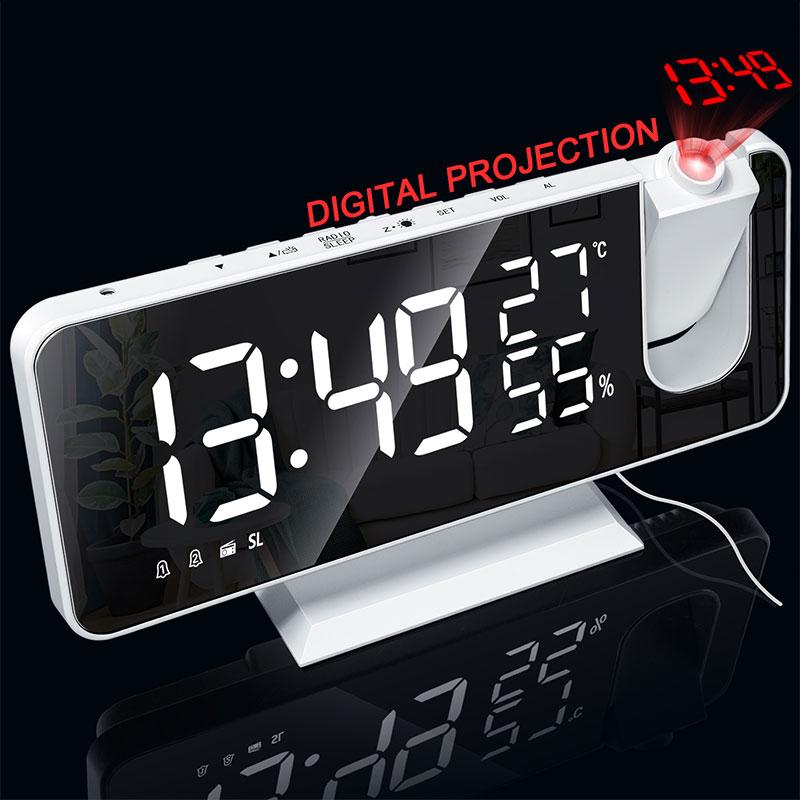 Led Digital Alarm Clock Hd Red, Digital Projection Alarm Clock Manual